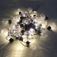 Nuevo Luces de cadena de globo decoración de Navidad 10 M 38 bombillas led 220/110 V interior al aire libre boda jardín colgante guirnalda luz de la secuencia