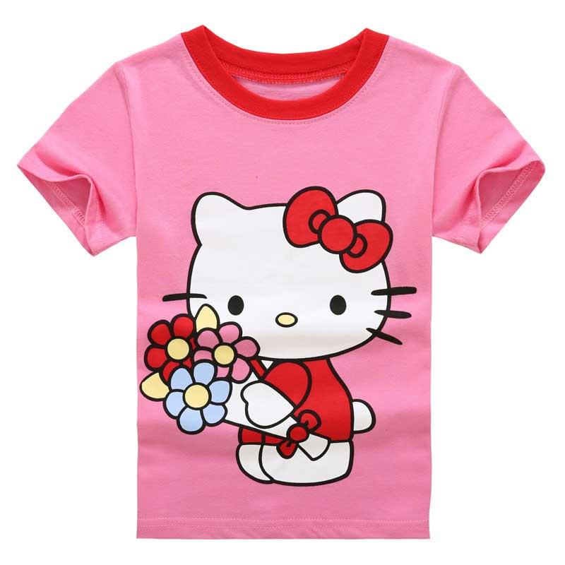 kitty girls t shirt fashion