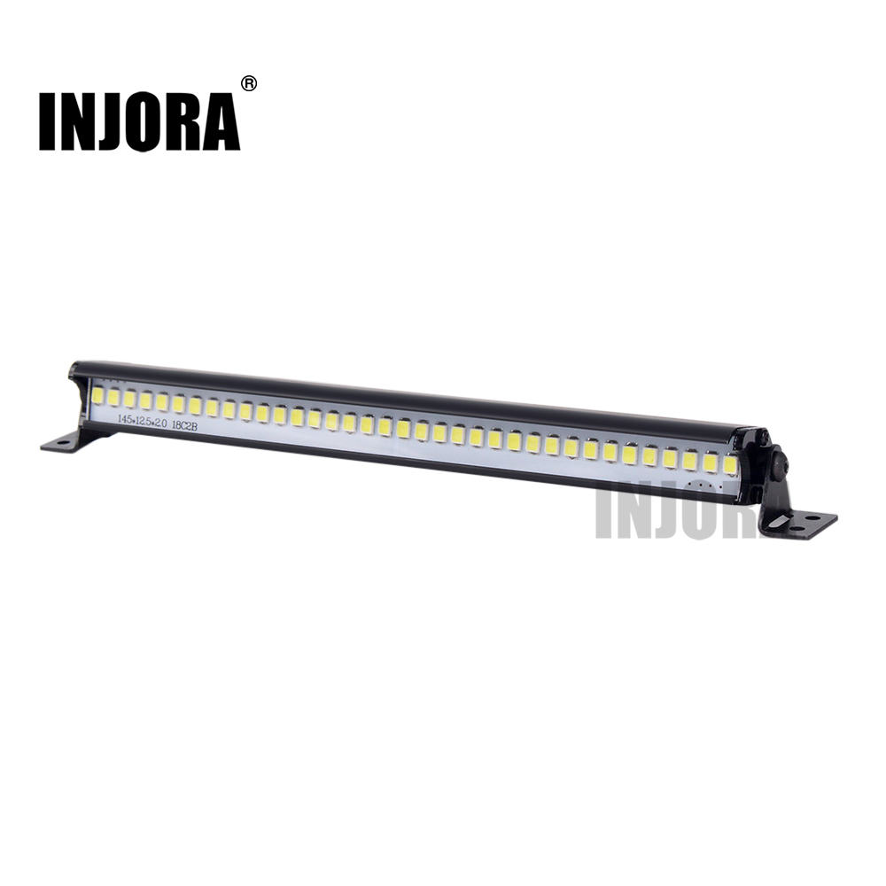 INJORA 148MM Super Bright 36 LED Lights Bar For 1/10 RC Crawler Car Axial SCX10 90046 D90 Traxxas TRX4