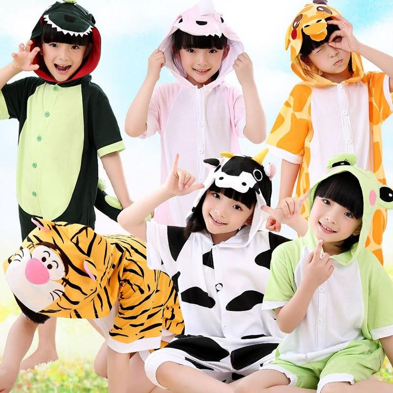 2018 Sommer Kleinkind Junge Pyjamas Sets Jungen Mädchen Pjs Velours Kinder Pyjamas Baumwolle Unisex Kinder Cartoon Pyjama Set Obst