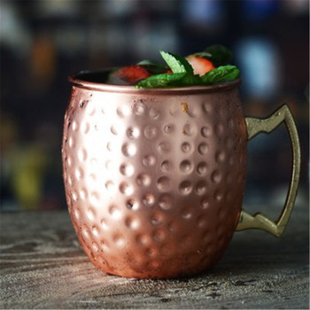 Ounces Hammered Copper Plated Moscow Mule Mug Beer Cup Coffee Cup Mug Copper Plated Black Rose.jpg 350x350 - tabletop-and-bar, new-arrivals, drinkware - Moscow Beer Mug