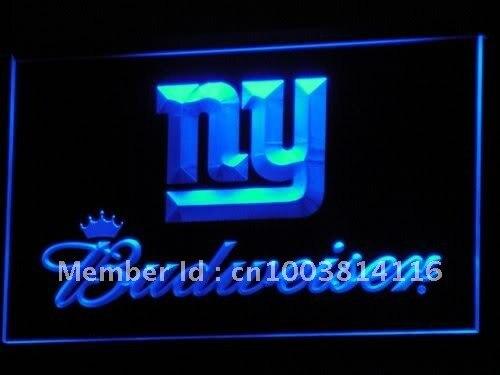 B281 NY New York Giants Budweiser светодиодный неоновая вывеска с включения/выключения 20 + Цвета 5 размеров на выбор