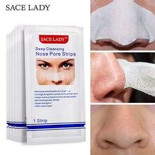SACE/женские полоски для носа, средство для глубокого очищения черных точек, средство для удаления носовых пятен, для лица, точечная наклейка, лист, маска для носа, Шелл для акне, черная голова