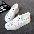 Shoes woman canvas shoes size 35-40 chaussure femme slip-on summer mixed colors sewing women shoes flat platform loafers