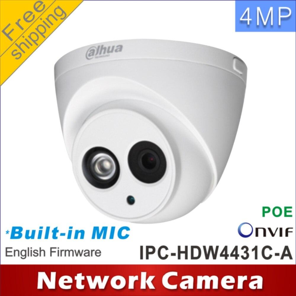 imágenes para Envío libre Dahua H2.65 IPC-HDW4431C-A MICRÓFONO Incorporado HD $ NUMBER MP IR 30 m Cámara de red IP cctv Cámara Domo Soporte POE HDW4431C-A