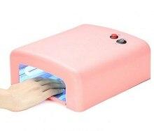 1Pcs White/Pink Color UV Lamp 36W Nail Art Dryer Gel Curing Light ,Manicure Drying Fan EU Plug
