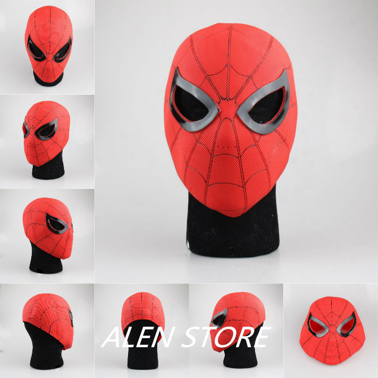 ALEN Spiderman Spider-Man: Homecoming Spider-Man Cosplay Soft Helmet PVC Action Figure Collectible Model Toy