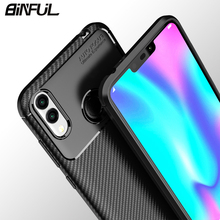 For Huawei Honor 8X Case Cover Carbon Fiber Soft Silicone Back for 8C Max 8Xmax Phone Coque
