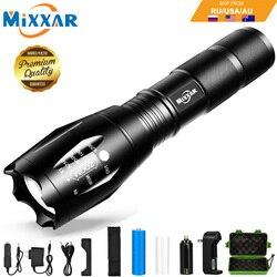 ZK60 дропшиппинг светодиодный тактический фонарь масштабируемый 8000лм 5 Режим водостойкий ручной фонарь 18650 AAA лучший для кемпинга