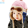 new soft high quality comfortable Cool Baby Hats Boys Girls Pilot Aviator Hat Winter Cotton Warm Ear Cap Beanie Cap For Children