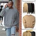 Kanye West Футболка НЕГАБАРИТНЫХ Осень Уличная Мода Yeezy Толстовки