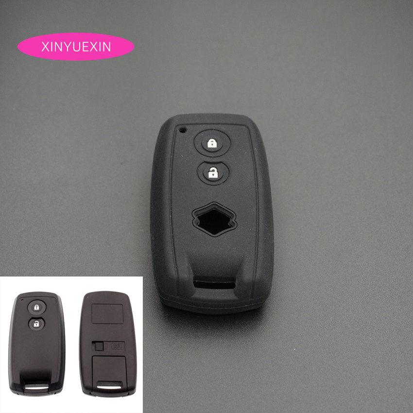 Xinyuexin Silicone Rubber Car Key Cover FOB Case for SUZUKI Swift Sport SX4 SCORSS Grand Vitara 2 Button Smart Key Car Styling xinyuexin silicone car key cover fob case for toyota altezza wish carina one button on side remote key car styling