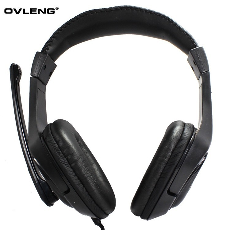 Original Brand OVLENG Q12 Over-ear USB Game Gaming Headset Headphones Earphone Headband with Mic Stereo Bass for PC Gamers 2016 pc780 over ear hifi stereo gaming headset earphone stereo bass led light headband headphone with mic for pc gamers