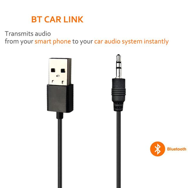 JINSERTA Car Bluetooth Adapter Receiver Wireless Music 3.5mm AUX Jack Audio Receptor USB Mini Bluetooth for Auto Speaker Stereo