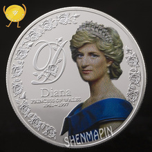 Five Pounds 999 Silver Commemorative Coin Diana Princess of Wales Coins Collectibles British Spencer