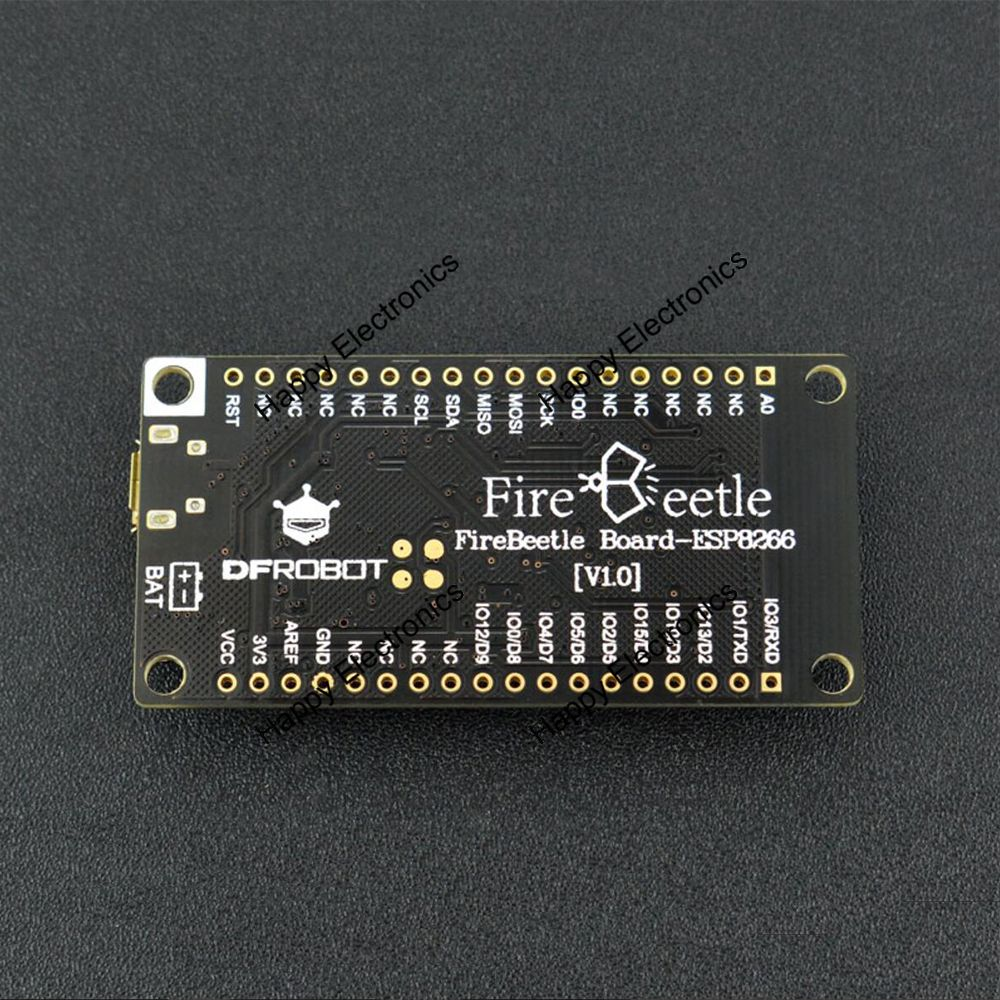 New Firebeetle Esp8266 Iot Microcontroller33v With Wifi Tcp Ip Digital Power Control 32 Bit Mcu 10 Adc Hspi Uart Pwm I2c I2s Interfaces In Demo Board From Computer