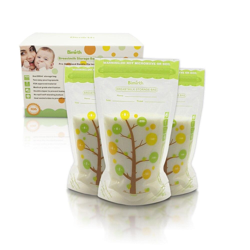 120 Stück Offen Baby Lebensmittel Lagerung Brust Milch Lagerung Taschen Brust Milch Lagerung Taschen Zu Speichern Die Milch Tasche 200 Ml Lagerung Von Lebensmitteln Fütterung