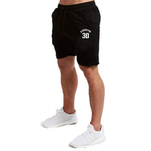 Men Breathable Number Lucky 30 Print Cotton Gym Short Trousers Shorts Sports