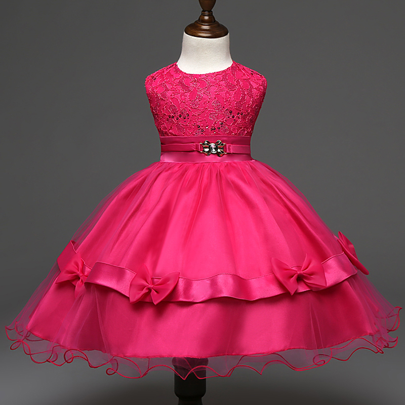 2017 New Design Girl Boutique Princess Dress Lace Bow Ball Gown Fashion  Metal Embroider Haute Couture Wedding Party Evening Kids-in Dresses from  Mother ... 583221e4df98
