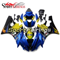 Injection Fairings For Yamaha YZF600 R6 06 07 2006 2007 Plastics ABS Motorcycle Full Fairing Kit Bodywork New Blue Yellow Shark