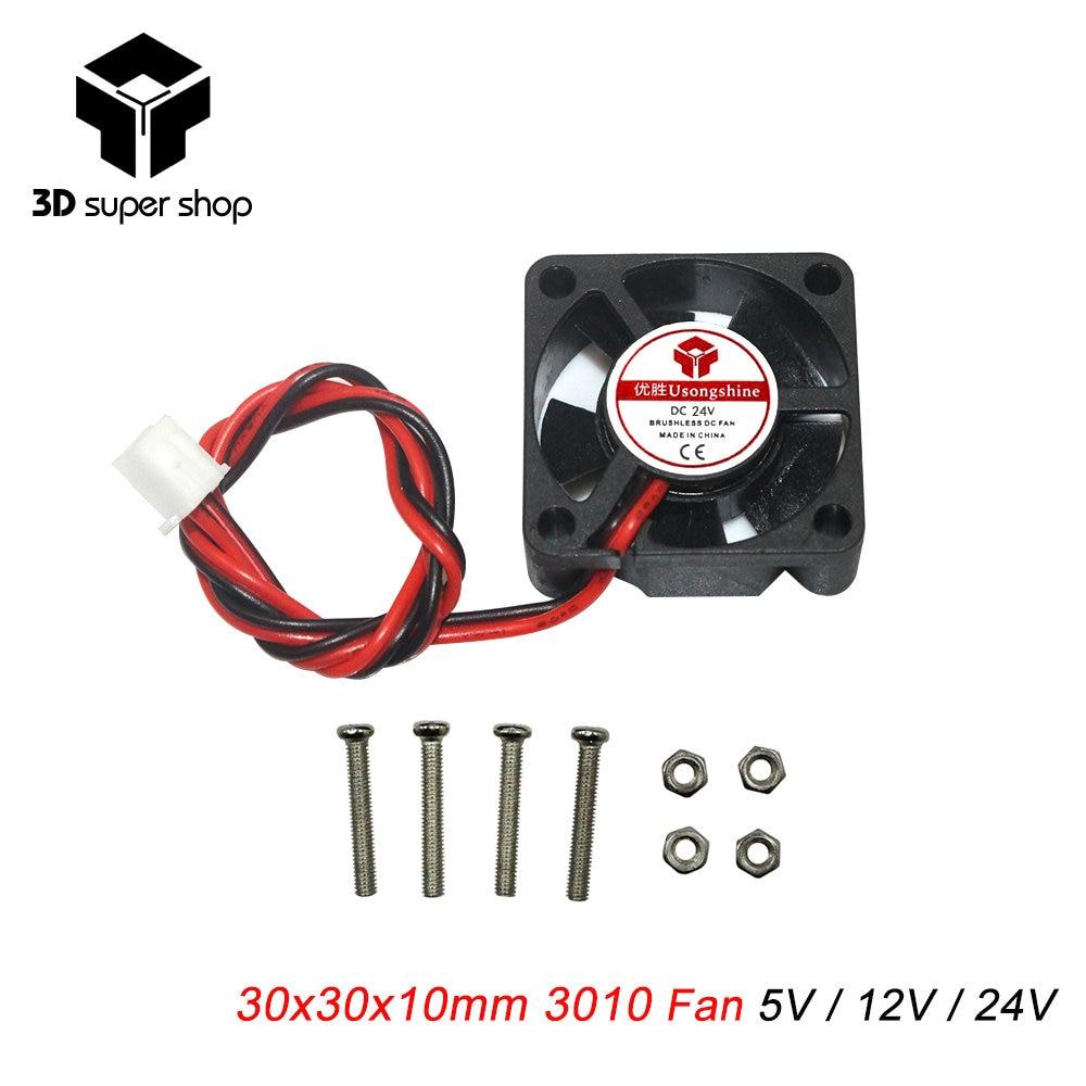 30x30 x10mm 3cm 3010 cooling graphics card fan 30mm graphics card Fan 2pins DC 5V/12V/24V with screw 3d printer part sunon 3006 30mm 3cm kde0503pev3 8 5v 0 35w 0 07a silent quiet server inverter hdd coolinig fan