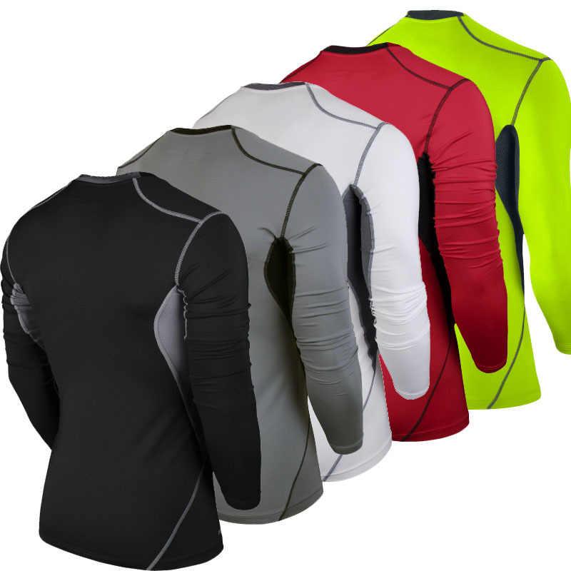 2019 シンプルな速乾性サッカーシャツタイトな長袖サッカーシャツサッカー 5 色