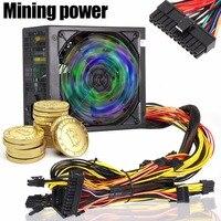 New 1600W 170 240V ATX Gold Mining Power Supply SATA IDE 6 GPU for ETH Ethereum EM88