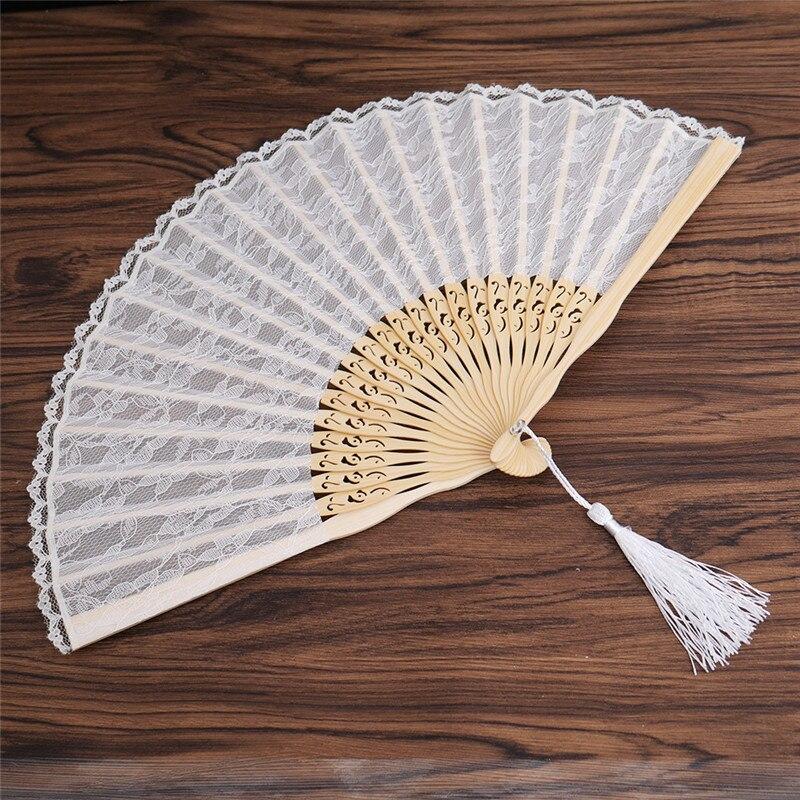 """8/"""" Fuchsia Hot Pink Chinese Folding Wood Panel Hand Fan w// White Organza Bag f"""