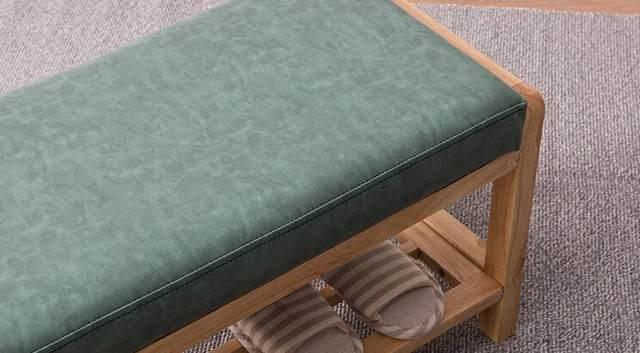 Bonito Almacenamiento De Muebles De Cuero Banco Otomana Imágenes ...