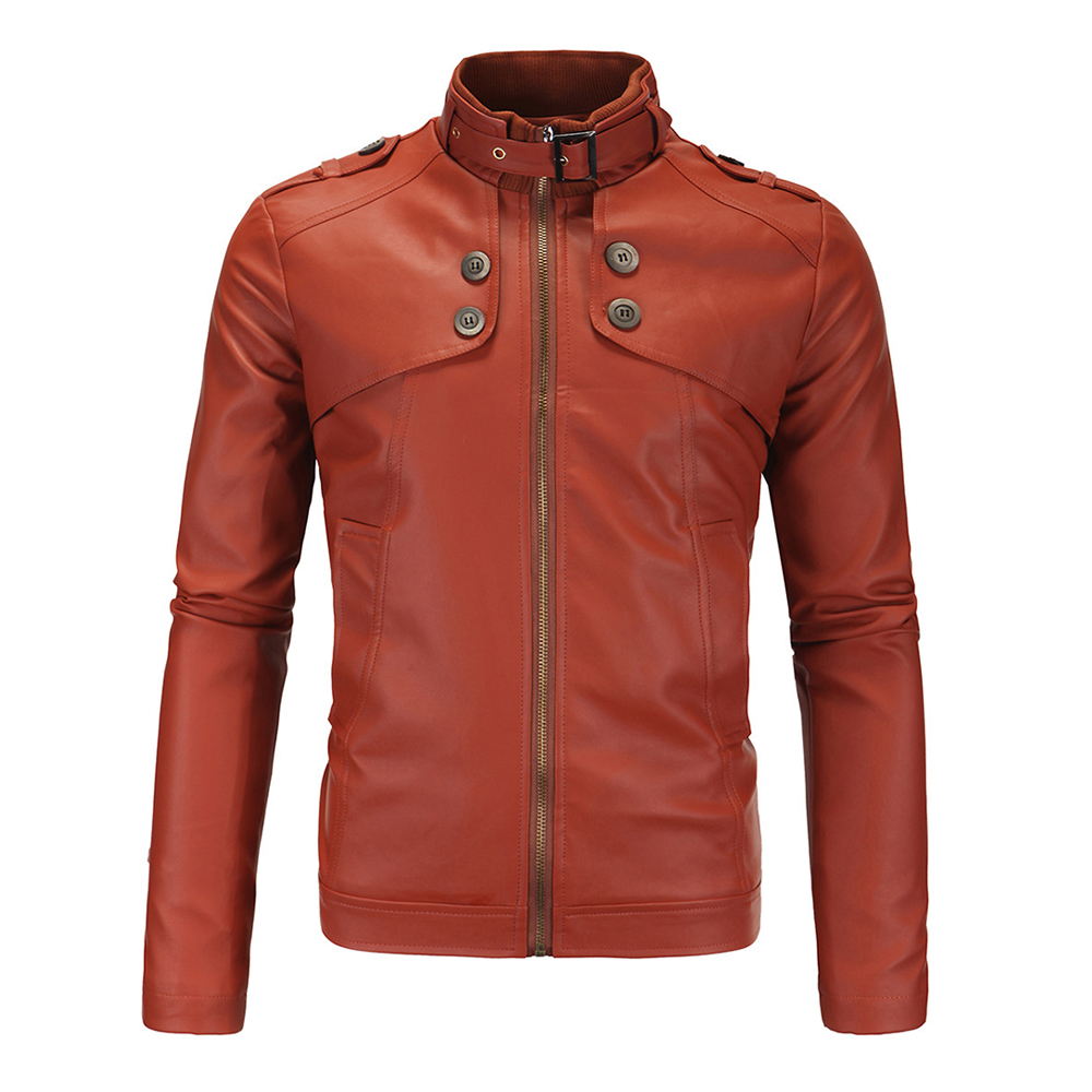 HEROBIKER Motorcycle Jaqueta Men Vintage Retro PU Leather Jacket Racing Punk Classical Faux Leather Warm Winter Clothing Jacket