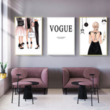 Fashion Canvas Poster Nordic Prints Wall Art Painting Abstract Posters Vogue Pop Pictures Unframed