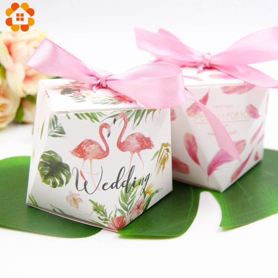 Flamingo Theme Party Candy Box Romantic Wedding Gifts Flamingo Paper ...