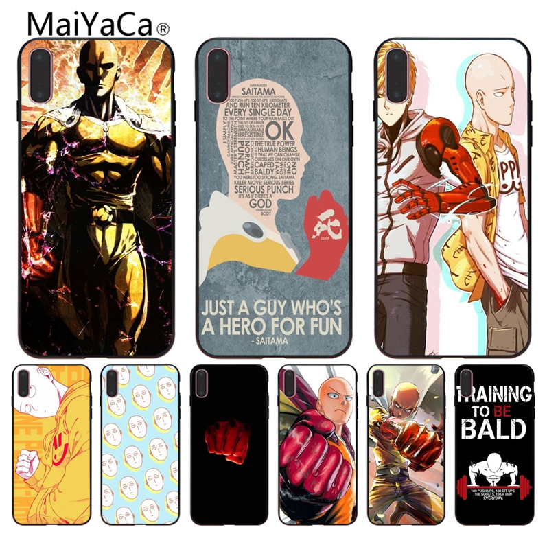 MaiYaCa ONE PUNCH MAN Painted cover Style Design Cell Phone Case For Apple iPhone X 8 8plus 7 7plus 6 6s Cover mobile phone case