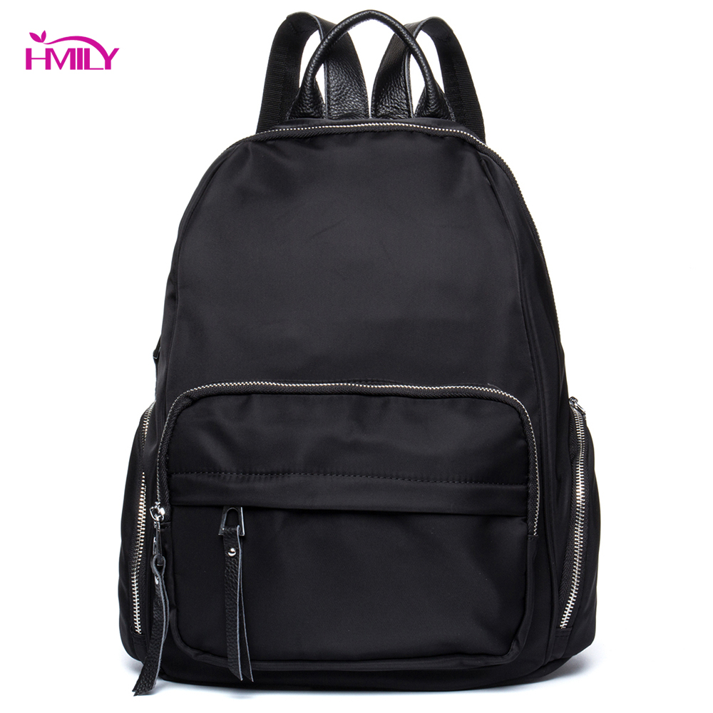 HMILY Women Backpack High Quality Oxford Female Bag Daily Waterproof School Bag For Women Leisure Ladies Travel Bag Black Color