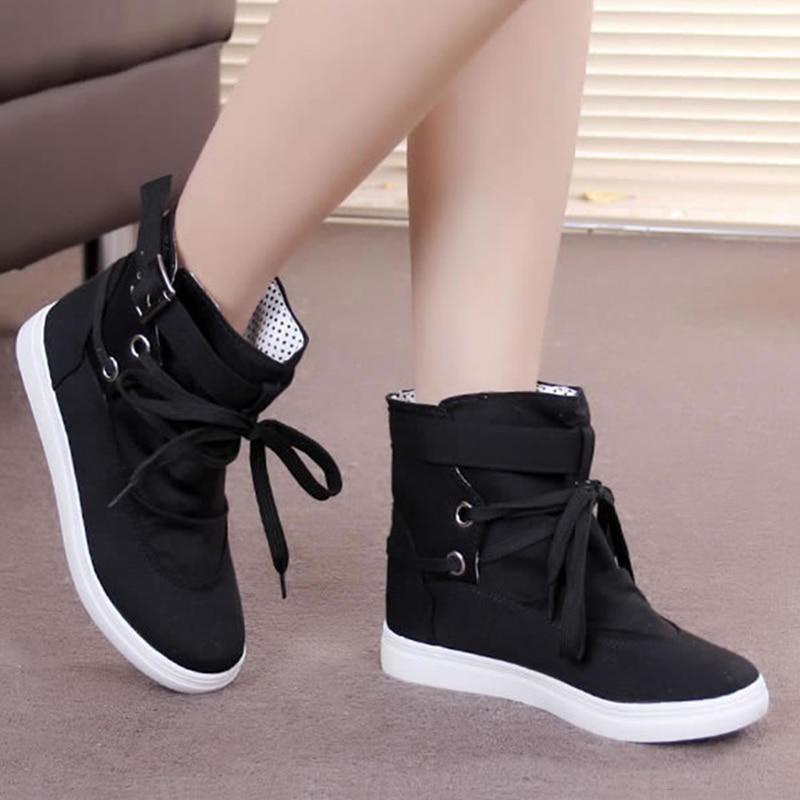 Algodón De Tobillo gris Zapatos Arco Para Las Casual Invierno Botas Otoño Negro Mujeres Botines nSZUgg