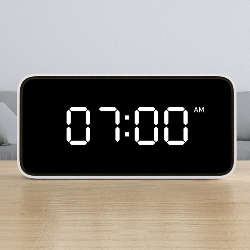 Xiao mi Xiaoai Smart Voice Diffusion réveil ABS Table Dersktop Horloges AutomaticTime travaux D'étalonnage avec mi maison app - 5