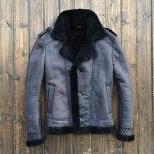 2015 USAF B3 Flight suit Warm Scrub Fur Men's leather jackets Original single Coat 5151