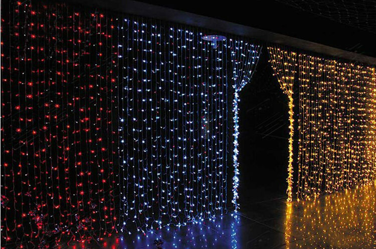 220V LED waterfall light Christmas Lights 6m*3m 880LED With 8 Modes for  Holiday/Party/Decoration curtain background light EU US-in Holiday Lighting  from ... - 220V LED Waterfall Light Christmas Lights 6m*3m 880LED With 8 Modes
