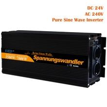 Чистый синусоидальный инвертор 3500 Вт DC 24 В AC 220 В 230 в 7000 Вт пик Солнечный инвертор