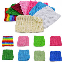 1PC 6 Inch Baby Kid Elastic Wrapped Chest 35 Colors Children Crochet Chest Wrap Headband DIY Tutu Skirt Dress Material Tube Tops