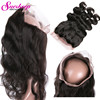 Brazilian Body Wave 360 Lace Frontal Band 8A 360 Lace Frontal Virgin Hair Natural Hairline Body Wave Full Lace Frontal Closure