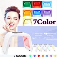 7 цветов косметическая машина маска для лица PDT светодиодный, фотонный терапия по омоложению кожи устройство спа средство для удаления акне против морщин