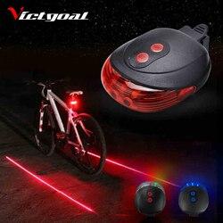 Фонарь для велосипеда, 2 лазера, безопасный ночник, задний фонарь для велосипеда с подсветкой, задний фонарь