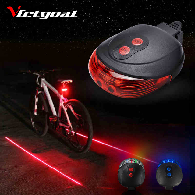 Flashlight For Bicycle Light 2 Lasers Bike Light Safe Night Cycling Lights Rear Flashlight For Bike Lamp Backlight Taillight