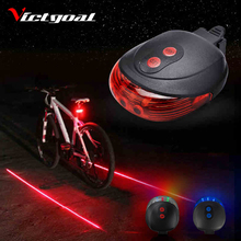 6e590c7a2 Lanterna Para Bicicleta Luz 2 Lasers Bicicleta Luz Seguro Noite Luzes de Bicicleta  Lanterna Traseira Para