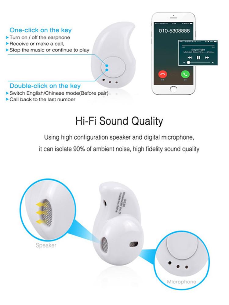 Mini Bluetooth Stereo Headset Wireless Headphones bluetooth Earphone with Microphone Car Call Handsfree Headphone for xiaomi (14)