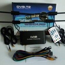 Автомобильный DVB-T2 цифровой ТВ-приставка 4 антенна поддержка 180-200 км/ч скорость вождения мобильность чип цифровой автомобиль 4 ТВ-тюнер HD 1080P ТВ приемник