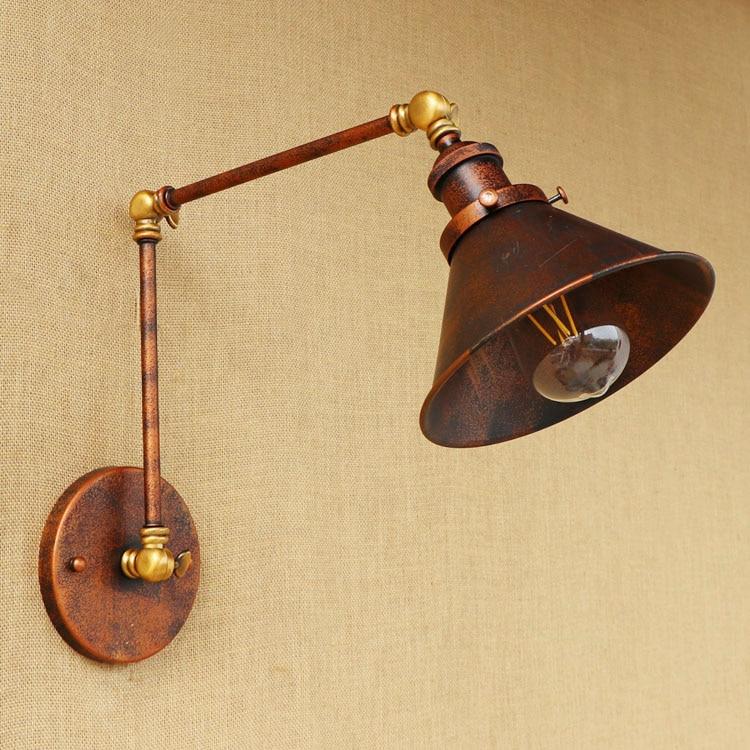 parede estilo industrial vintage led com ajuste