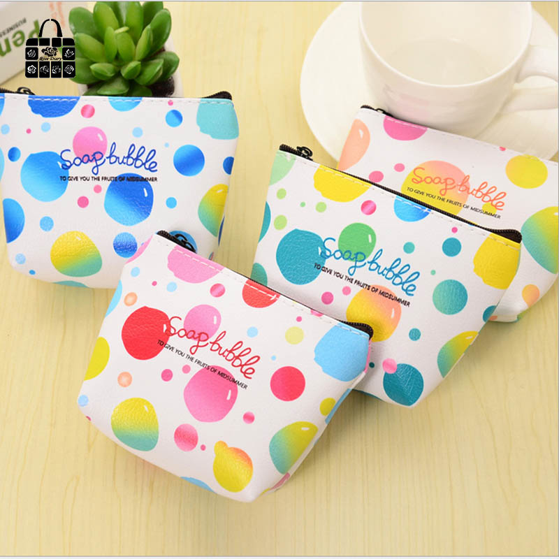 1pcs Rose Diary colorful balloons PU zipper coin purses zero wallet child girl boy women purse,lady zero wallets,coin key bag 3 beam of balloons colorful magic water balloons outdoor recreation and water play toys