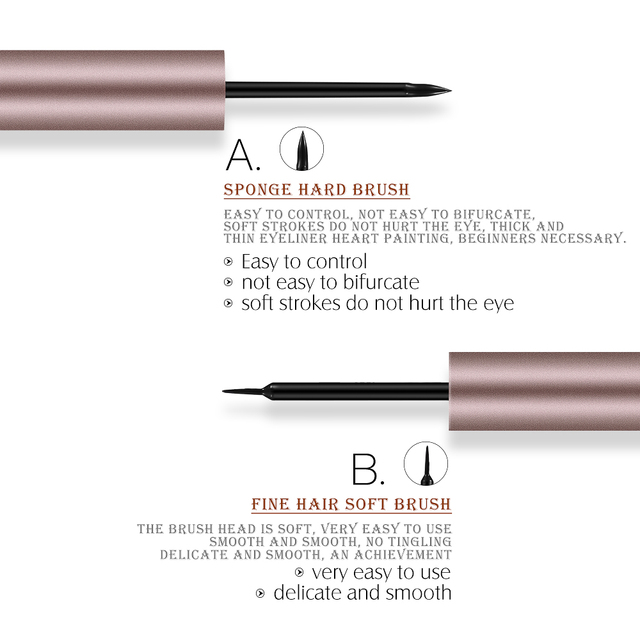 O.TWO.O Professional Thin Liquid Eyeliner Pen Silk Eye Liner Pencil 24 Hours Long Lasting Water-Proof Eyes Makeup Tools 2
